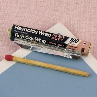 Rouleau papier aluminium miniature 3 cm