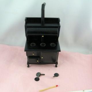 Fourneau miniature maison poupée 13 cm.