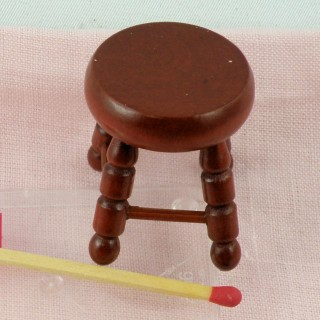 Taburete miniatura para casa de muñecas