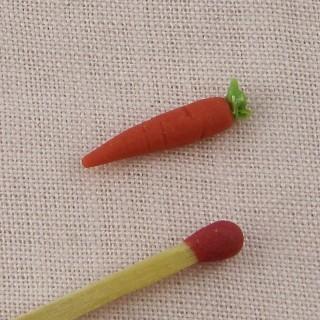 Zanahoria verdura miniatura casa muñeca