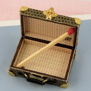 Miniature suitcase house doll 1/12 5 cms
