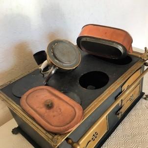 Juguete antiguo Cocina horno miniatura muñeca 30 cm