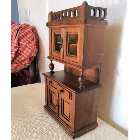 armoire lorraine miniature meuble maison poup e bois. Black Bedroom Furniture Sets. Home Design Ideas