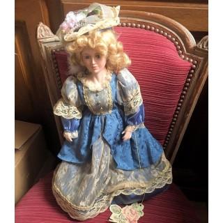 Muñeca porcelana de colección 46 cm