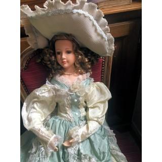 Muñeca porcelana de colección 75 cm