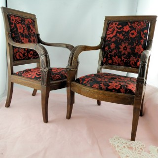 Pair of Armchairs Worsens miniature for headstock 24 cm