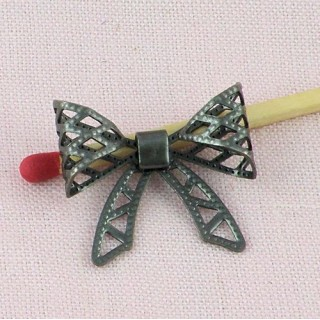 Metal bow, decoration, bracelet charm, charms 1,9 cms.