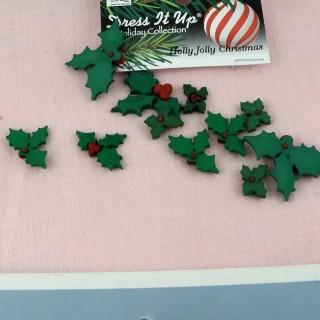 Buttons Dress it up Christmas miniatures,