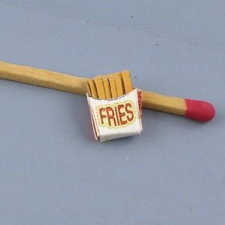 Cuerno de patatas fritas miniatura casa muñeca