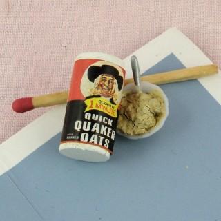 Gachas de avena Quaker oats miniatura casa muñeca