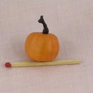 Citrouille miniature halloween maison poupée .