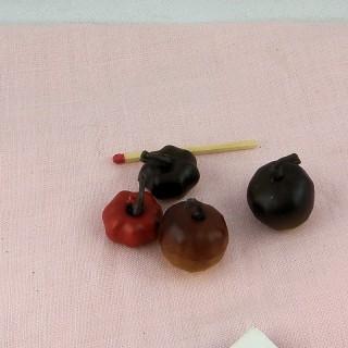 Citrouilles miniature halloween maison poupée .
