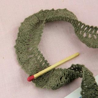 Dentelle volantée plissée ruchée froufrou 18 mm
