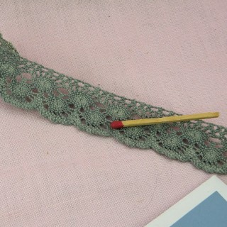Rustical cotton lace 2,4 cms