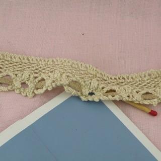 Dentelle coton rustique  3 cm