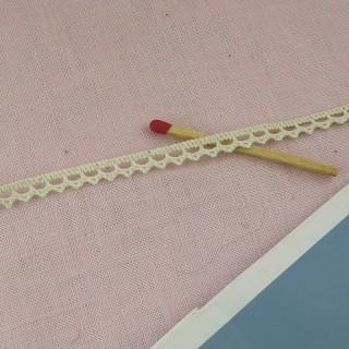 Dentelle fine coton 10 mm 1cm