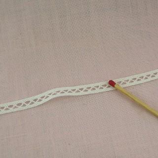 Spitze Baumwolle zwischen zwei 7 mm