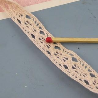 Encaje fino algodón 15 mm