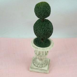 Arbre topiaire miniature maison poupée 6 cm,