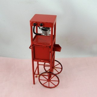 Chariot miniature vente ambulante confiserie