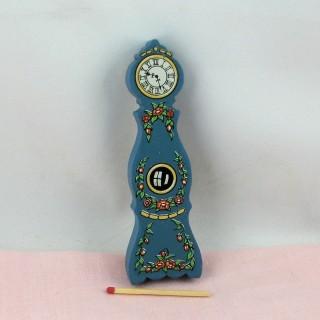 Reloj abuelo de entarimado miniatura casa muñeca