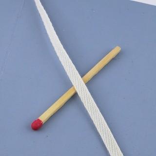 Flacher Schnürsenkel rafft Baumwolle 4 mm.