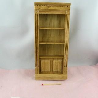 Bibliothèque miniature bois maison poupée 18 cm