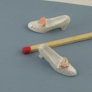 Chaussures miniatures décoration 2 cm