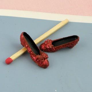 Chaussures miniatures scintillantes pour décoration