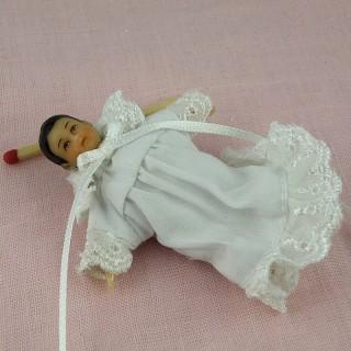 Poupée bébé miniature maison 1/12eme