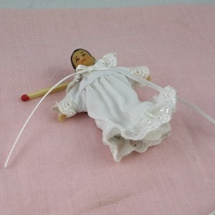 Muñeca bebé miniatura casa 1/12ème
