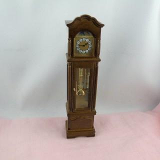 Horloge de parquet miniature maison poupée état marche