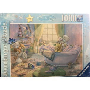 Puzzle Ravensburger 1000 parts Teddy with the bath