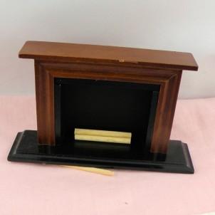 Vintage fireplace doll house miniature furniture