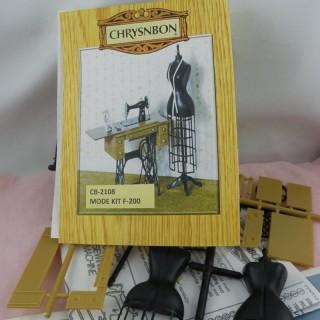 Kit couturière miniature maison poupée