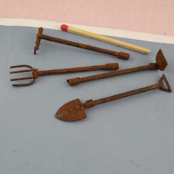 Garden tools miniatures accessories