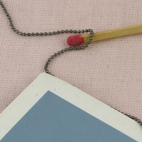 Poupée 1/12  bijoux chaine 1 mm au décimètre