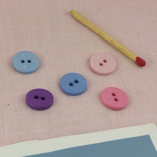 Flat button, pastel color, 1,5 cm, 15mm.