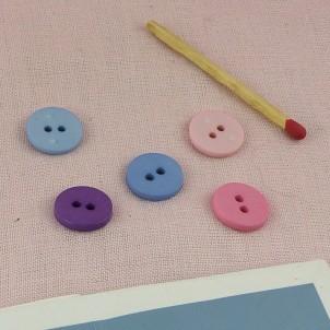 Knopf großer flacher Durchmesser Grund 15 mm