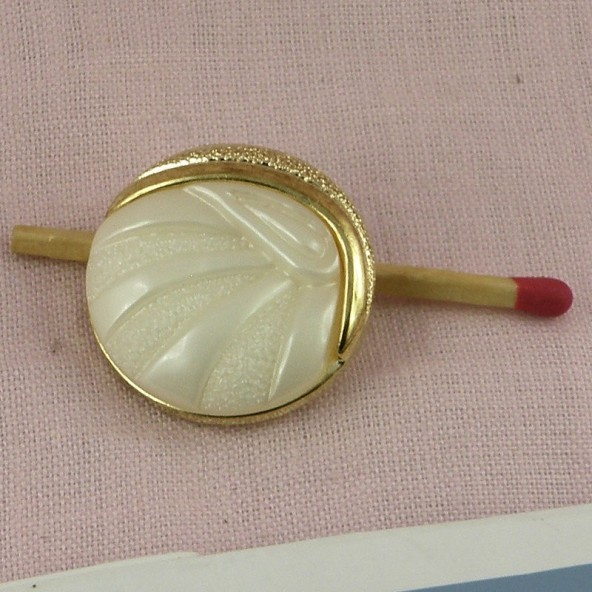 Knopf LeertastenHautecouture & Gold 2,5 cm