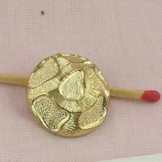 Botón dorado estilo austríaco a pie 21 mm