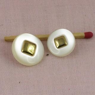 Bouton doré haute couture àpied deux tailles