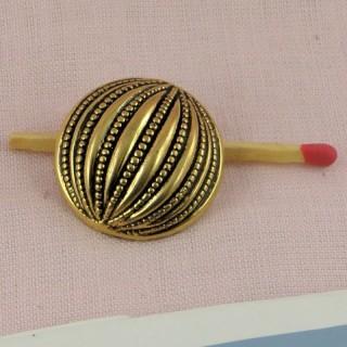 Botón dorado estilo austríaco a pie 25 mm