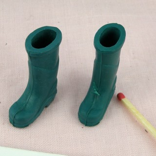 Boots miniatures for doll miniature 3 cm..
