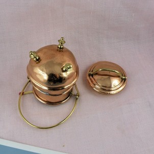 Chaudron ancien en cuivre 8 cm pour dînette poupée