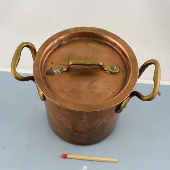Olla antigua en cobre 7 cm para tentempié muñeca