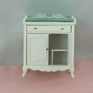 Changing table doll house miniature 1/12