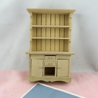 Buffet vaisselier miniature cuisine maison poupée