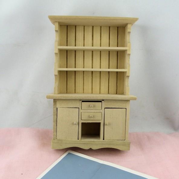 buffet vaisselier miniature cuisine maison poupe