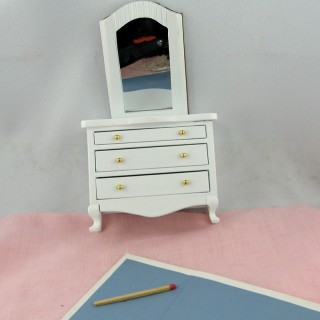 Vanity with mirror, dollhouse bedroom